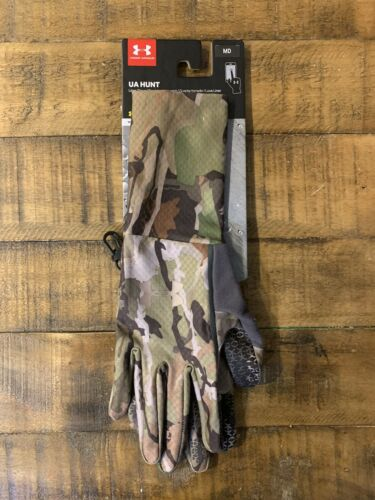 Under Armour Storm ColdGear Forest Camo Women's Gloves Outdoor Hunting Size  M L Clothing Women's