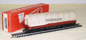 CA-017-16-Marklin-Wagon-tombereau-bache-reference-4517
