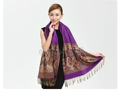 New Lady Women's Fashion 100% Cashmere Pashmina Soft Warm Wrap Shawl Scarf