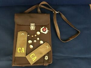 Soviet-Russian-Army-Military-Officer-Leather-Map-Bag-Case-Tablet-Planshet-USSR