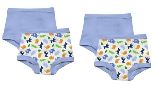 NEW 4 Pk Green Sprouts Boy/'s 3T Washable Potty Training Pants Underwear Animals