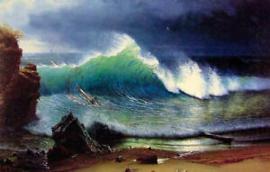 ZWPT919-100-painted-hand-big-sea-wave-seascape-oil-painting-art-on-Canvas