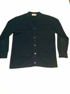 Vintage-Broadway-Knitting-Mills-Los-Angeles-Virgin-Wool-Blue-Mens-Sweater