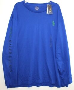 Polo-Ralph-Lauren-Mens-Size-L-Blue-Big-Pony-L-S-Crewneck-T-Shirt-NWT-Size-L