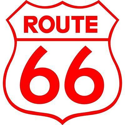 Sticker Autocollant Route 66 Couleur au Choix r03