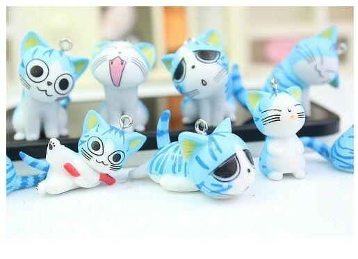 1set 9 X blue cute Japan cartoon cat Charms pendants DIY Jewellery Making crafts