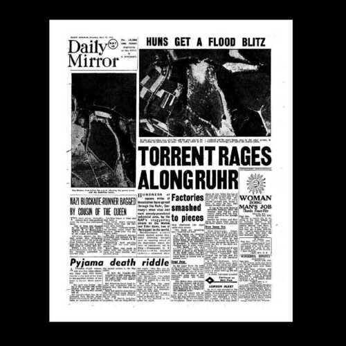 Dollshouse Miniatura periódico-Daily Mirror 18 de mayo de 1943-la Dam Busters