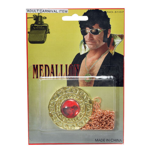 Rock Star Silver Gold Sunglasses Shades Microphone Medallion Fancy Dress