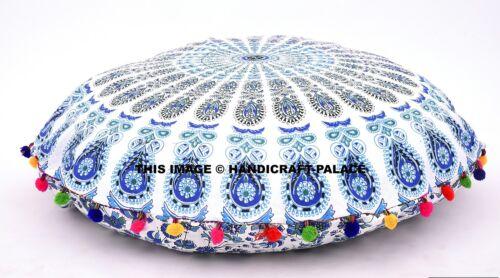 Mandala Boden Kissen Baumwolle Dekorative Indische Runden Kissen Ottomane Puff