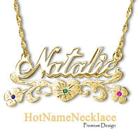 Personalized Name Necklace In 14k Solid Gold   Designers Cut ✔️