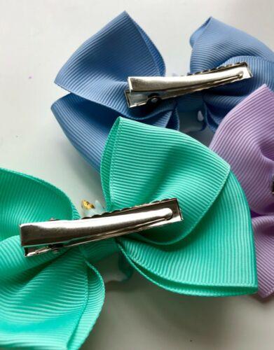 """3.5/"""" Solide Coloré Arc-Licorne Figure Bows Unicorn hair bows//pinces à cheveux"""