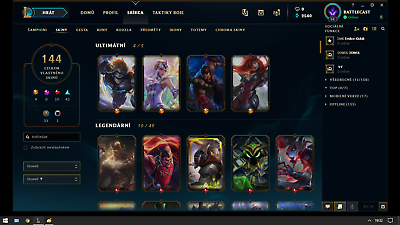 League Of Legends Eune Acc Premium 144 Skins 755142719760 Ebay