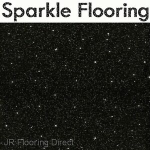 Image Is Loading BLACK Granite Effect Sparkle Vinyl Flooring Floor NEW