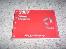 2003 Ford Focus Electrical Wiring Diagram Manual SE ZTX ZX3 ZX5 SVT LX 2.0L 2.3L