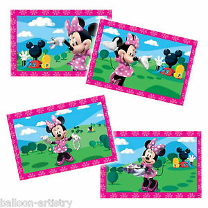 4-Disney-Minnie-Mouse-Pink-Party-Favour-JIGSAW-Puzzles