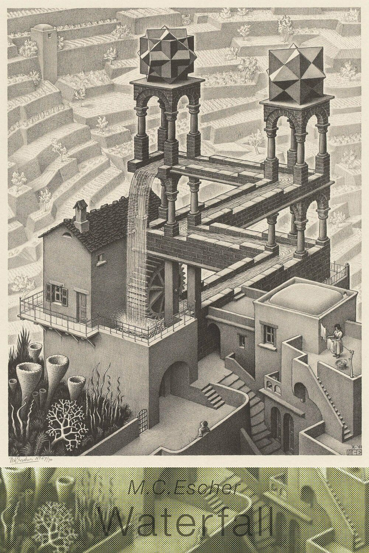 Epoch Puzle Rompecabezas 11-578 Maurits Cornelis Escher Cascada 1961 (1000