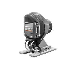 Ridgid Jig Saw Head JobMax Tool Only Compact Blower Port Efficient Cuts Durable