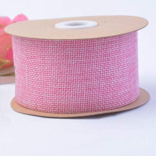 10M Faux Jute Burlap Hessian Ribbon Bow Tape Arts Craft Gift Wrap Rustic Decor