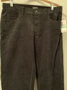 Michael-Kors-Men-039-s-Black-Corduroy-Straight-Leg-Pants-34-x-32-New-With-Tag