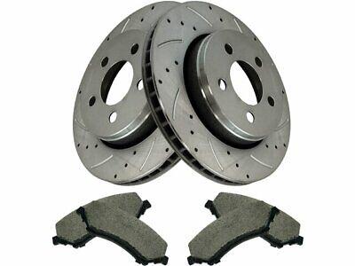 5lug 2 Brake Rotors For: Liberty Wrangler Rear Kit Pads 4 Semi-Met