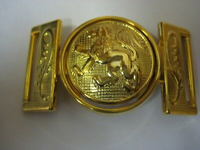 Brass Plated Lion Print Thick Strong Belt Buckle 30mm JOB LOT x10 Sets