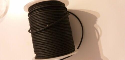 Lederband Rund Lederschnur Lederriemen Schwarz 2 mm 1 Meter.