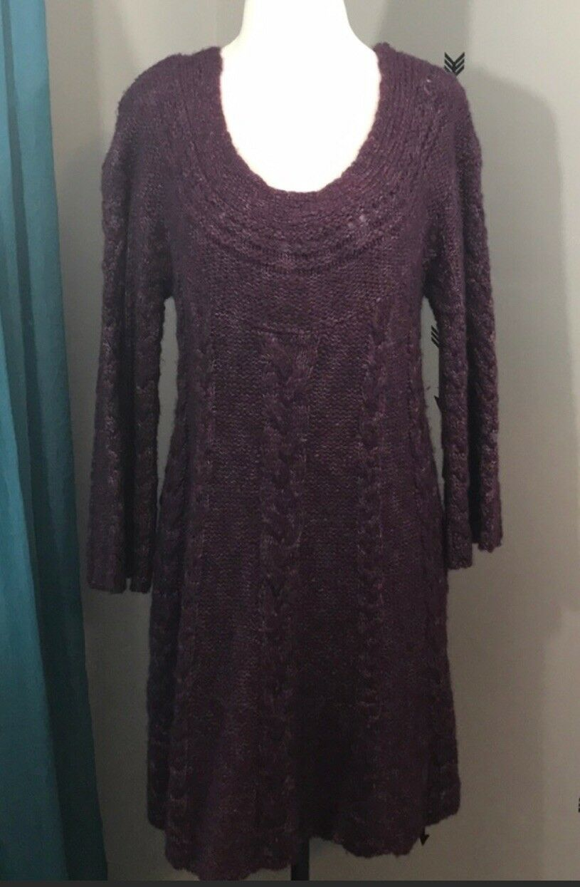 Gorgeous Free People Knitted Sweater Dress - Medium