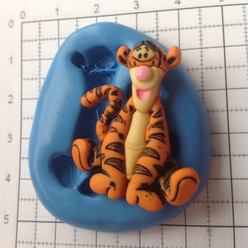 Silicone Mould Disney Tigger Cupcake Topper Flowerpaste Fondant Sculpey Icing