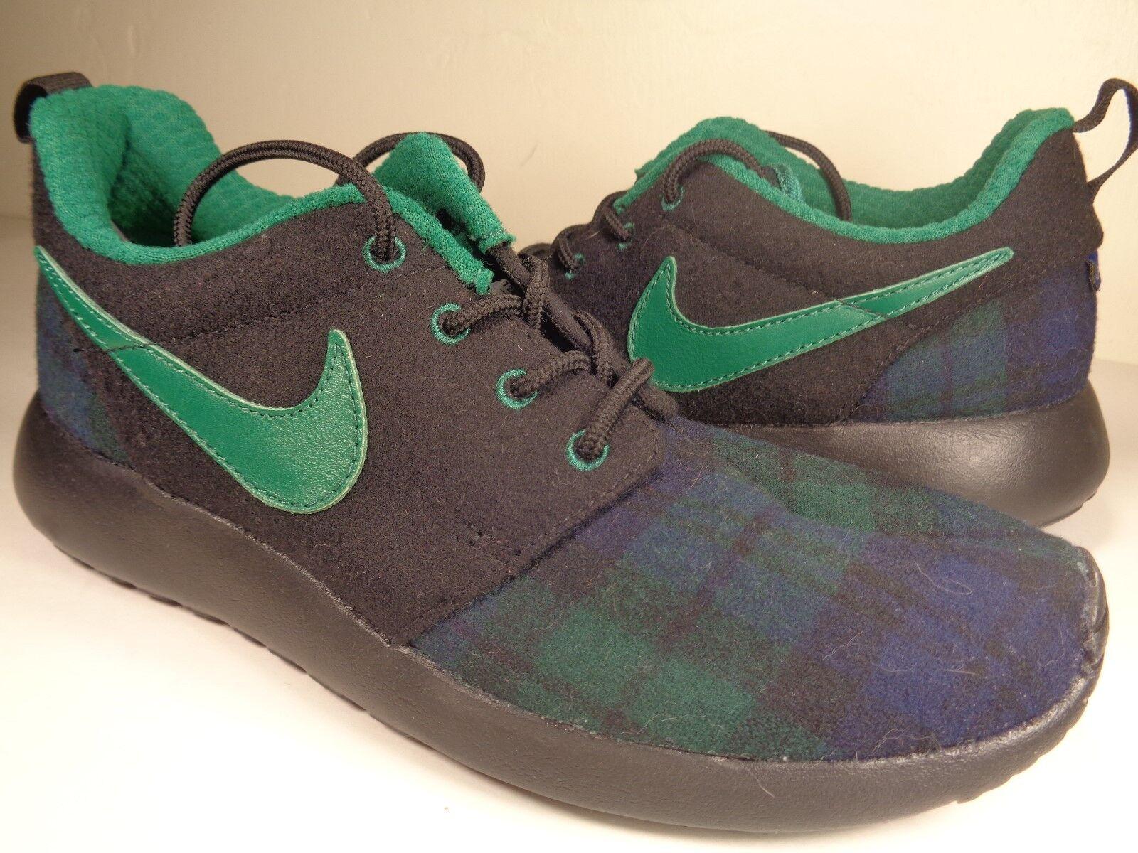 Para A Mujer Nike Rosherun Id Pendleton Negro Verde Azul A Para Cuadros (728453-991) c7937c