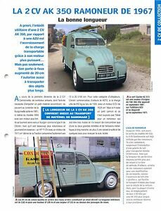 2-CV-Citroen-AK-350-AZU-Ramoneurs-Materiel-Ramonage-1967-Car-Auto-FICHE-FRANCE