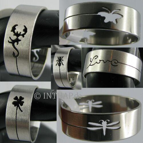 cut Ring - Edelstahlring Herrenring Damenring Fingerring - verschiedene Motive