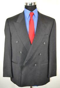 Enrico-Corsini-42S-Sport-Coat-Blazer-Suit-Jacket-Gray-Wool-Double-Breasted