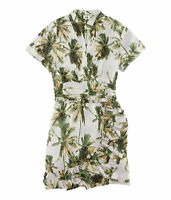 NWT H&M For Water 2012 Collection Wraparound w/Frill Woven Patterned Dress US 10