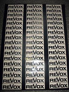 34 REVOX Spulen-Aufkleber für 18er und 26er Spulen in schwarz - Wiesbaden, Deutschland - 34 REVOX Spulen-Aufkleber für 18er und 26er Spulen in schwarz - Wiesbaden, Deutschland