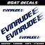 Evinrude decals stickers sailboat XL nautical marine boat motor cruise