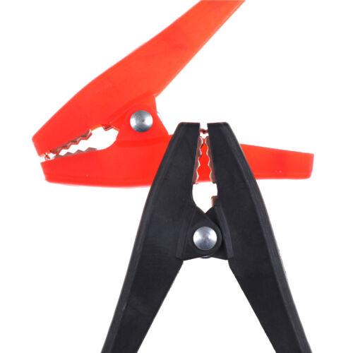 2X 90 mm 100 A Plastique Pinces Crocodile Batterie Voiture Pinces demandeuse Rouge /& Noir PT
