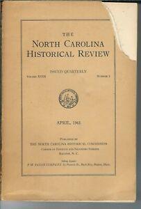 NN-014 North Carolina Historical Review Magazine April 1941 William Gaston