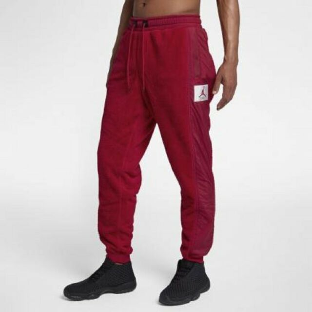 2d0aacaf5e46 Nike Jordan Sportswear Wings Of Flight Fleece Athletic Lounge Red Pants  Men s L