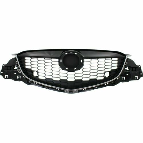 Painted Black W// Chrome Molding Honeycomb for 2013 2016 Mazda CX-5 Front Grille