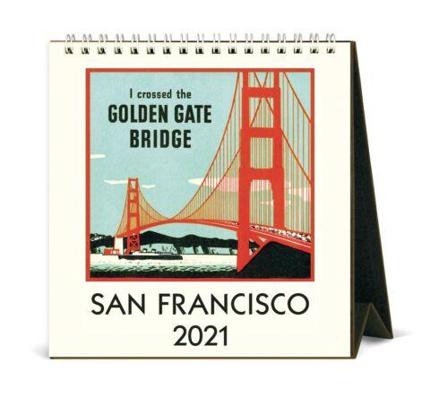 2021 Tischkalender San Francisco 15.2x16.5cm Cavallini