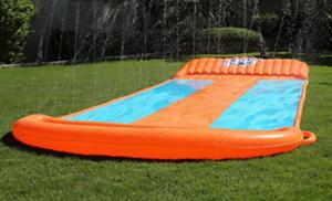 Water Games For Kids Outdoor Slides Triple Slip N Slide ...