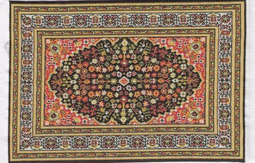 1:12 Scale 10cm x 15.5cm Woven Turkish Rug Tumdee Dolls House Small Carpet P42s