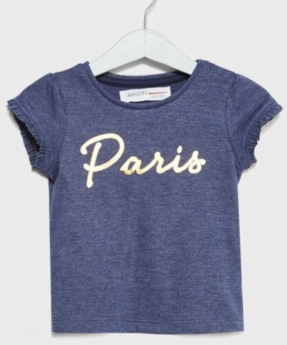 Minoti Filles Paris Imprimé T-Shirt Tailles 12 mois à 3 ans