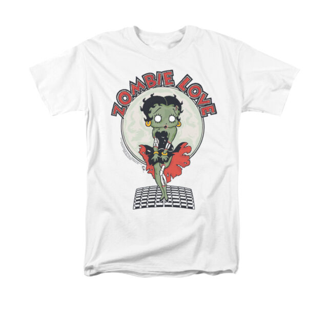 fe2d9cdec BETTY BOOP BREEZY ZOMBIE LOVE Licensed Adult Men's Graphic Tee Shirt SM-3XL