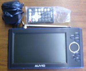 "Auvio 16-906 7"" Portable Handheld Widescreen LCD Digital TV w/ Remote"