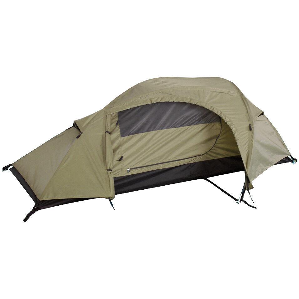 MilTec Recom Una Persona Esercito Tenda Campeggio Escursione Festival Coyote Sh
