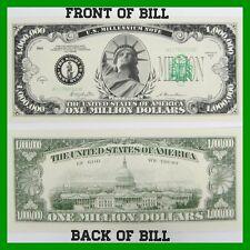 One Million Dollar Bills 20 Pack Lot Uncirculated Novelty