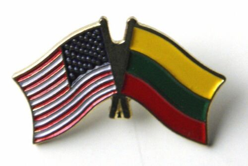 LITHUANIA NATIONAL COUNTRY COMBO WORLD FLAG LAPEL PIN BADGE 1 INCH