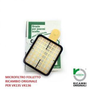 Microfiltro igienico per folletto modello vk135 vk136 ricambio  originale