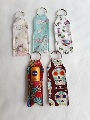 HANDMADE LIP BALM CHAPSTICK KEY RING CATH KIDSTON GUARDS AND FRIENDS FABRIC